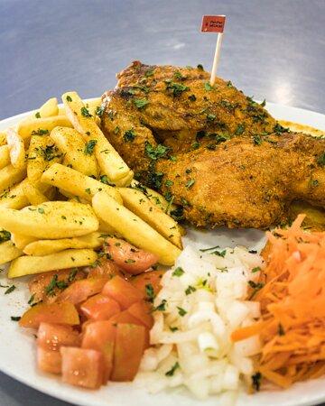 Medio pollo con salsa Peri Peri
