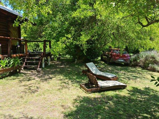 cabaña y parque