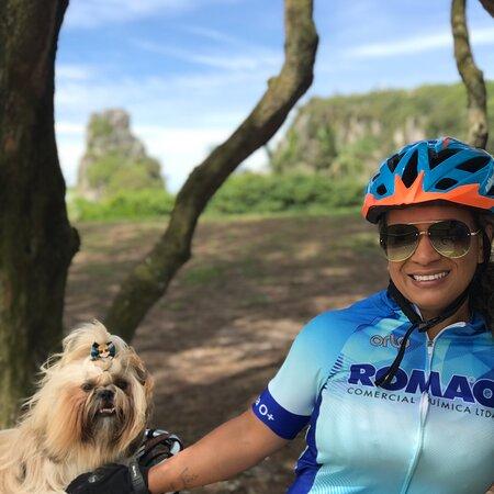 Torres, RS: Passeio Bike com Luck, nosso parceiro inseparável