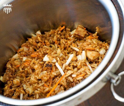 arroz en baril