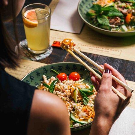 Laab Gai Minced Chicken With Thai Herbs