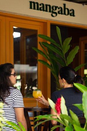 Varanda frontal do restaurante