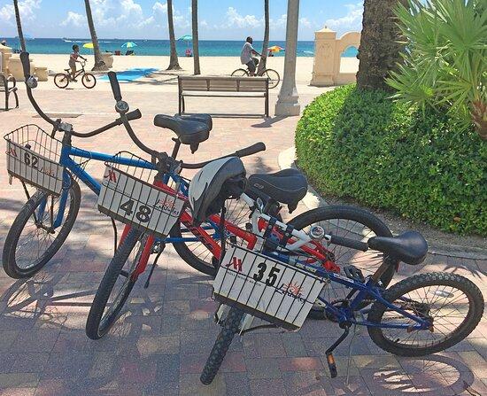 Enjoy our bicycles along the Broadwalk & beach.