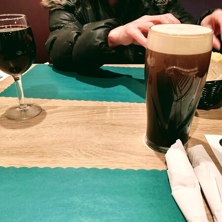 Red wine and Guinness