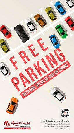 Free Parking! Simply spend at least SGD50 at participating dining outlets including Ocean!
