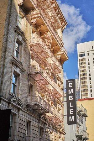 Hotel Emblem Side Exterior