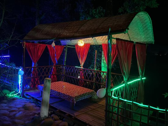 Assam, India: Campsite camping near dehing river