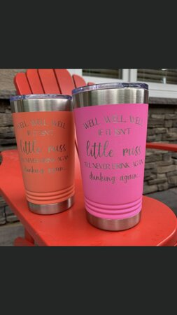 Custom engraved thermal drinkware - express yourself!