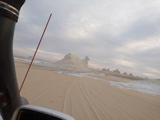 Safari dans le désert noir et blanc, camping sous la lune Photo