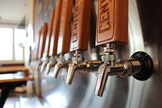10 of our beers on tap.