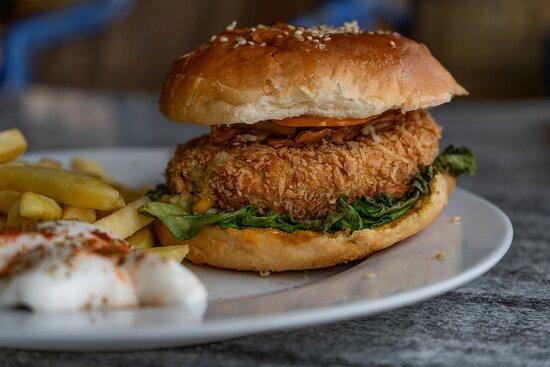 A classic burger at Tiko's