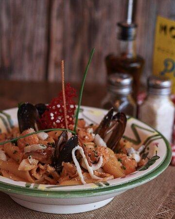 Pasta aux fruits de mer. Il existe un nombre incalculable de versions des Pasta...