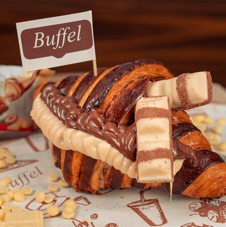 La brioche Bigusto cioccolato bianco e nutella