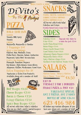 Our menu. We also have weekly specials  Fresh baked brownies flapjacks shortbread bread pudding and much more
