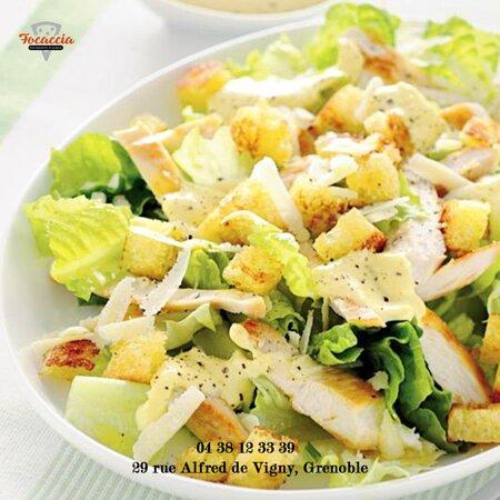 Salade Cesar Focaccia ristorante pizzeria