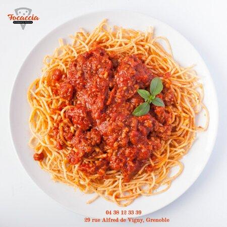 Spaghetti bolognaise Focaccia Ristorante Pizzeria