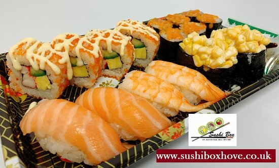 Brighton and Hove, UK: Sushi Box in Hove he Sushi Box in Hove specialise in Authentic Japanese cuisine for delivery or collection. Open 6 days a week lunchtimes and evenings, Tuesday to Sunday, closed on Monday except on Bank Holidays. You can expect to find a variety of dishes available which often consist of raw fish, Sushi Rolls, Sahimi ,Nigiri , Gunkan ,  Katsu Curry, Rice  japanese Curry Udonas well as a selection of drinks. Order Online securely at our official website www.sushiboxhove.co.uk