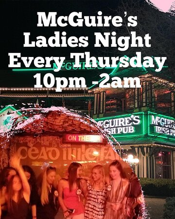 Every Thursday night 10pm - 2am ladies drink FREE draft beer, house wines, and well liquor drinks ☘️ We have live music 🎸