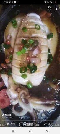 Sizzling squid