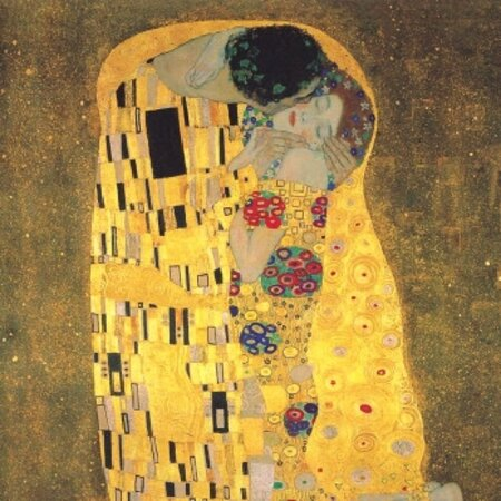 """Vienna, Austria: KLIMT """"DER KUSS"""" -.THE KISS- KLIMT MASTERPIECE, THE ONE SO HATED BY THE CHURCH AND DE ORIÓN FOR PAINTING DEVOTERS. KLIMT WOULD BE ALWAYS MOSTLY REMEMBERED FOR THIS CONTROVERTED WORK"""