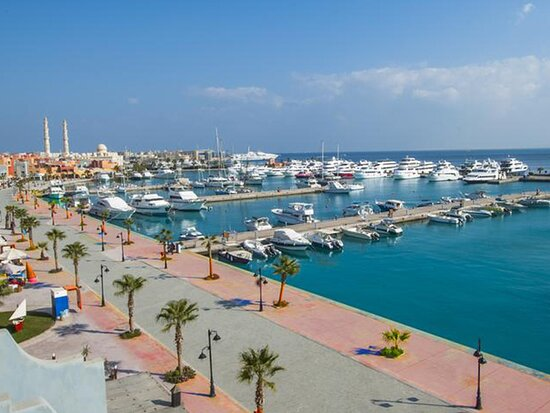 View over the beautiful Hurghada Marina from the Boutique Hotel.
