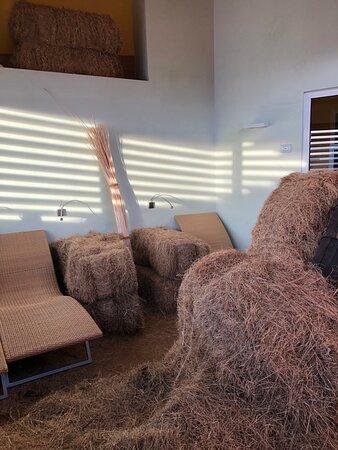 Hay room.