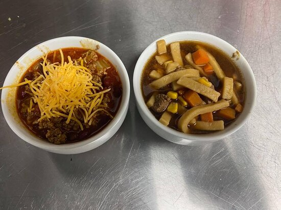 All of our soups and chili is homemade!