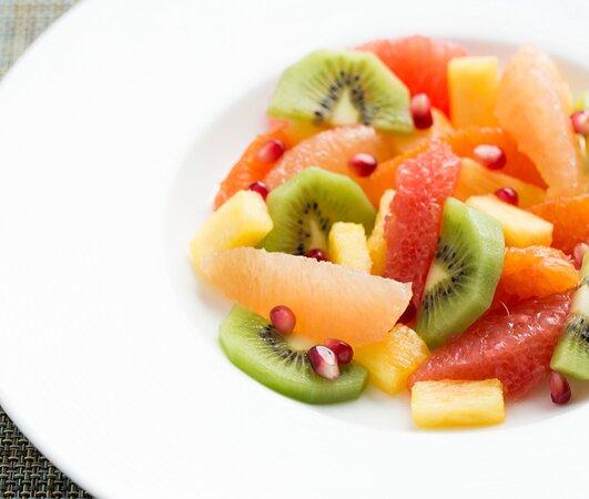Seasonal fruit at brunch