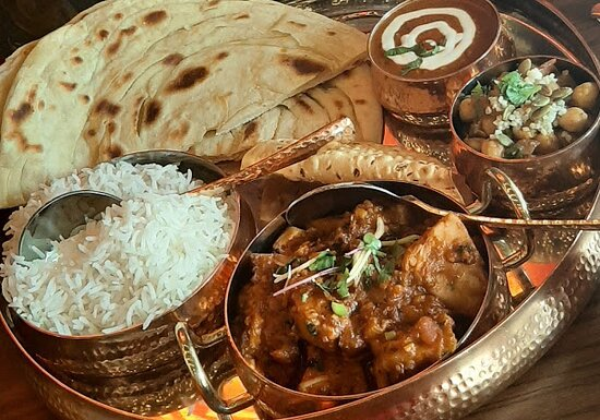 Thali with Jackfruit Curry