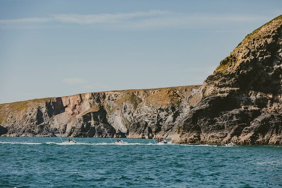 Jet skis on safari in Cornwall. We have two sites one at Lusty Glaze beach Newquay and one at Carlyon Bay St Austell.