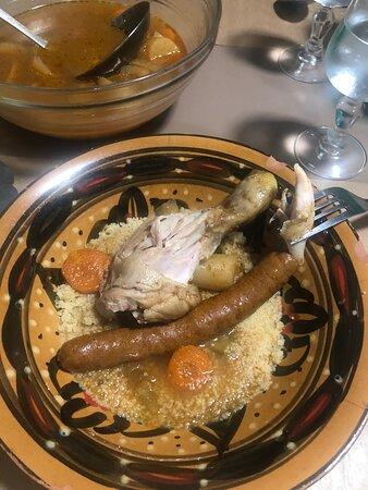 Les Tourrettes, فرنسا: Excellent couscous maison