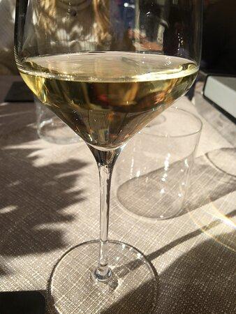 calice di vino gentilmente offertomi
