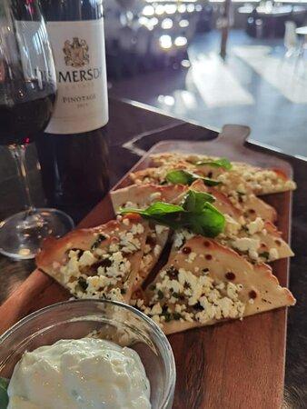 Garlic and Feta Flatbread