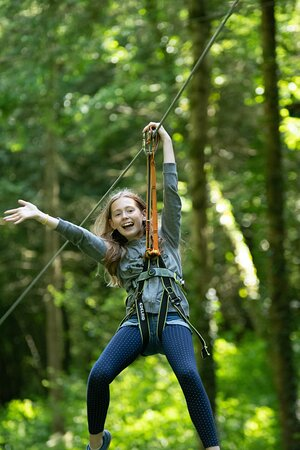 25 tyroliennes entre parc et forêt, sensationnel !