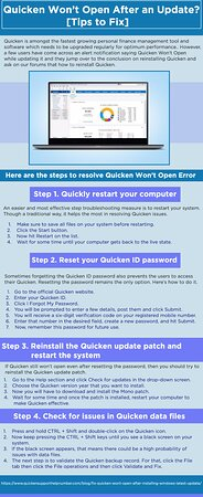 Quicken is amongst the fastest growing personal finance management tool and software which needs to be upgraded regularly for optimum performance. However, a few users have come across an alert notification saying Quicken Won't Open while updating it and they jump over to the conclusion on reinstalling Quicken and ask on our forums that how to reinstall Quicken.That can work as a final resort, but first, you must try a few basic fixes before reinstalling Quicken.This guide covers all the trouble