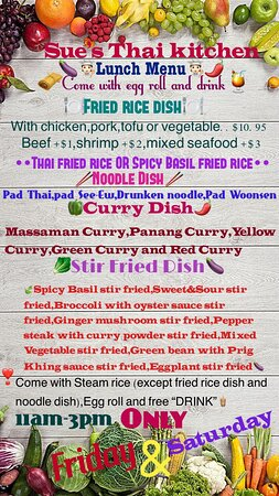 Lunch Specials Friday and Saturday