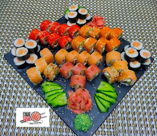 Sushi plates by Syake Sushi Hurghada