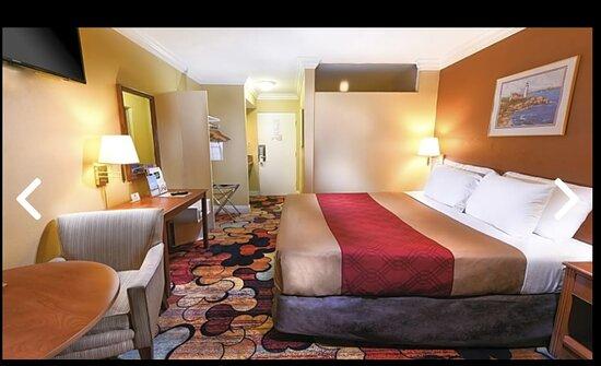 Bãi biển Long, CA: King Size bed room