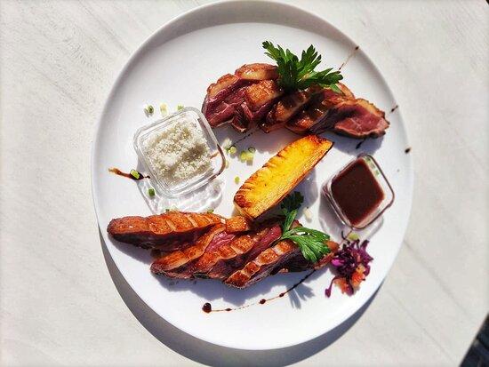 Suggestion du jour de Janvier 2021 : magrets de canard & ananas rôti