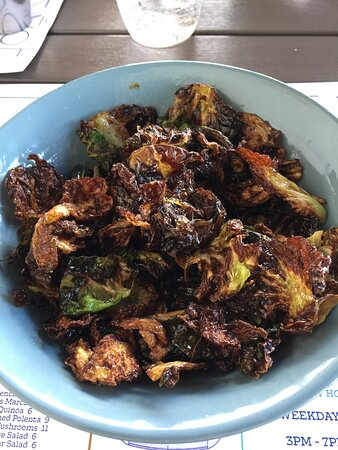 Crispy Brussels sprouts were delicious!