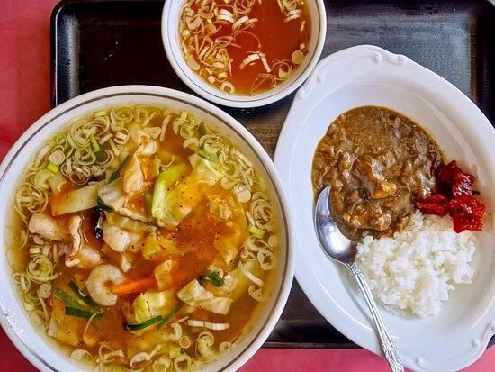 大将麺(ダージャンメン)3辛+半カレー