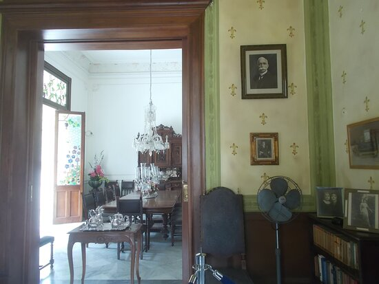 The dining room seen from an adjacent room (on the main level)