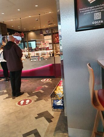 Great Costa Coffee outlet.