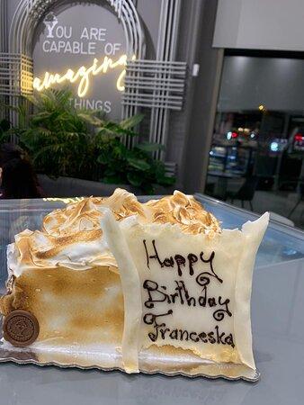 Order your favorite birthday cake @Yogurteria