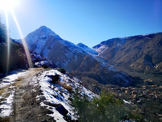 the road to picturesque IMLIL