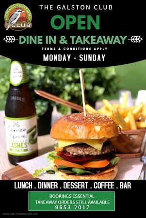 Galston, Australien: Dine and Takeaway available 7 days a week