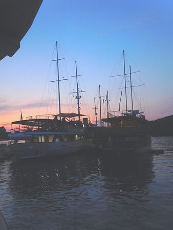 Mljet Island, Croatia: Popular port of call for all cruising boats ... well the smallish ones that can dock.
