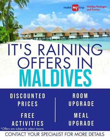 Flash Sale running for Trip to Maldives.Free Meal,Room Upgrade,Free Activites & Discounted Prices.