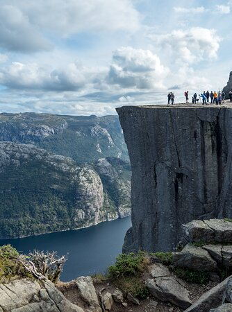 """We hike to Pulpit Rock on our 4 day trip: """"Hike, Kayak, and Camp on the Norwegian Fjords"""""""