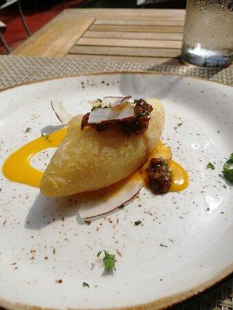Обеденная закуска во время экскурсии в Санто-Домимнго -из маниоки и сыра